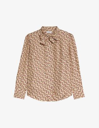 Sandro Rochan graphic-print silk shirt