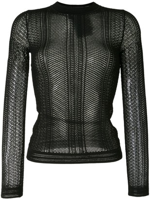 Paule Ka Knitted Sheer Top