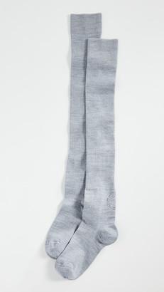 Ganni Merino Wool Thigh High Socks