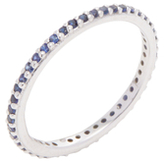 Ila Rainbow 18K White Gold & 0.38 Total Ct. Blue Sapphire Eternity Band Ring