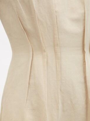 Brock Collection Teena Raw-edged Cotton-blend Dress - Beige