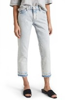 Current/Elliott Women's The Cropped Straight Leg Jeans