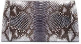 Nancy Gonzalez Metallic Python Slicer Clutch Bag