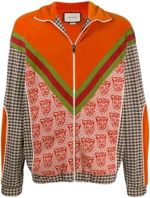 Gucci Multi-Fabric Zip-Up Jacket