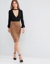 Glamorous Body-Conscious Midi Skirt