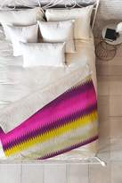 Deny Designs Holli Zollinger fusion bright stripe Faux Shearling Throw Blanket - 60 x 50