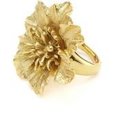 Oscar de la Renta Gilded Floral Ring