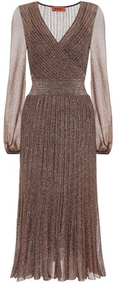 Missoni Metallic knit midi dress