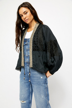 Free People Jasmine Embroidered Short Duster