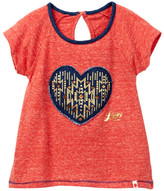 Lucky Brand Heart Denim Applique Tee (Toddler Girls)