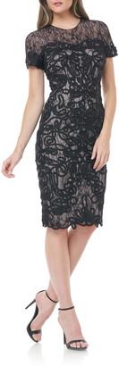 JS Collections Soutache Lace Cocktail Dress