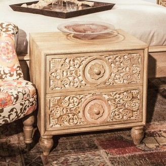 Bungalow Rose Maderia 2 Drawer Nightstand Color: Natural Whitewash