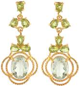 Carousel Jewels - Peridot & Topaz Statement Earrings