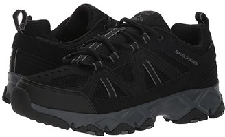Skechers Crossbar (Black/Charcoal) Men's Lace up casual Shoes