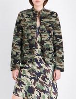 Nili Lotan Camdre camouflage-print stretch-cotton jacket