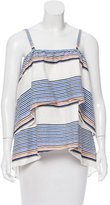 Tanya Taylor Striped Off-The-Shoulder Blouse