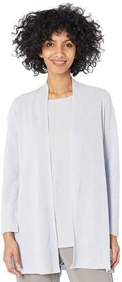 Eileen Fisher Organic Linen Cotton Long Cardi (India Sky) Women's Clothing