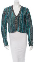 The Elder Statesman Crop Cashmere Cardigan w/ Tags