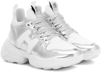 Hogan H487 metallic leather sneakers