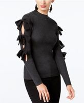 INC International Concepts Bow-Trim Mock-Neck Sweater, Created for Macy's