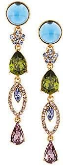 Oscar de la Renta Women's Bold Crystal & Cabochon Drop Earrings