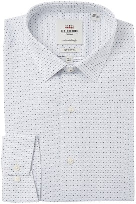 Ben Sherman Dobby Stretch Tailored Slim Fit Dress Shirt