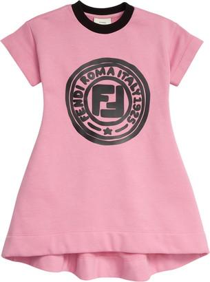 Fendi x Joshua Vides Logo Graphic Sweatshirt Dress