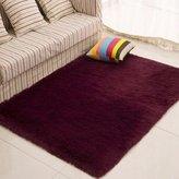 Doormats Yiting Rectangular modern household bedroom living room soft green mats pure color ,50*80CM D