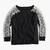 J.Crew Petite crewneck sweater with edged lace