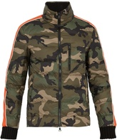 Valentino Camouflage-print quilted down jacket