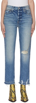 TRAVE 'Constance' distressed heavy wash jeans