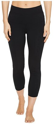 Hard Tail High-Rise Capri Leggings (Black) Women's Workout