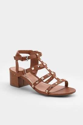 Rampage Milty Stud Gladiator Heeled Sandal - Tan