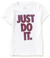 Nike Big Girls 7-16 Short Sleeve Just Do It Tee