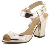 Schutz Chunky Gold Colored Sandals