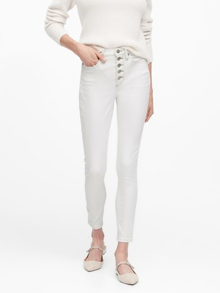 Banana Republic Petite High-Rise Skinny Button Fly Jean