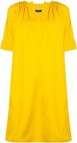 Derek Lam Short Sleeve Day Dress With Shoulder Pleats