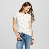 Zoe+Liv Women's Cactus Tossed Print Graphic Tee Heather Gray - Zoe+Liv (Juniors')