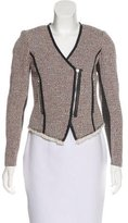 Rebecca Taylor Textured Leather-Trim Jacket