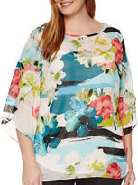 WORTHINGTON Worthington 3/4-Tulip-Sleeve Blouse with Cami - Tall