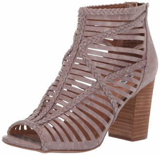Not Rated Love to All High Heel Open Toe Caged Sandal with Braided Detail