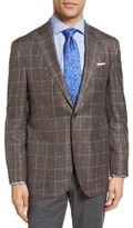 David Donahue Men's Aiden Classic Fit Windowpane Wool Sport Coat