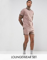 Asos Extreme Runner Short & T-shirt Set In Pink Save