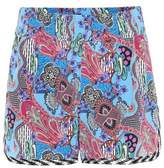 Etro Printed silk shorts