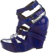 Givenchy Eel Skin Wedge Sandals