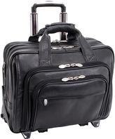 McKlein McKleinUSA Gold Coast 17 Leather Detachable -Wheeled Laptop Briefcase