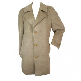 Lanvin Beige Wool Coat for Women Vintage
