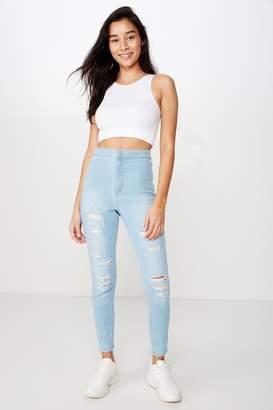 Supre Short Super Skinny Sky High Ripped Jean