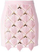Balmain tassel panel skirt