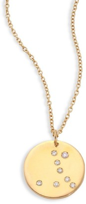 Bare Constellations Pisces Diamond & 18K Yellow Gold Pendant Necklace